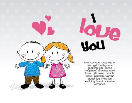 camaraderie: love design over gray background vector illustration