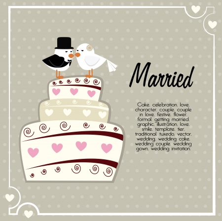 married design over gray background vector illustration  Vector