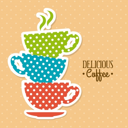 coffee design over dotted background vector illustration  Vector
