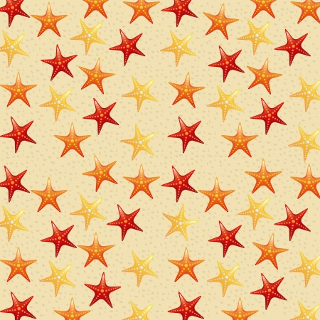 sand background: beach and starfish over sand background vector illustration