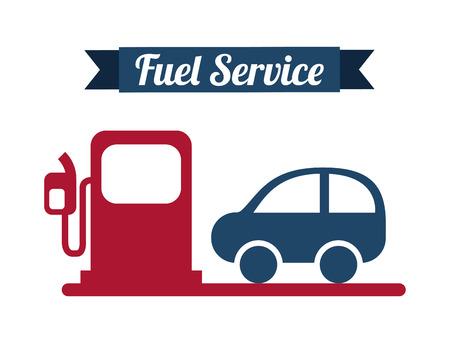 fuel service over white background vector illustration   Vector