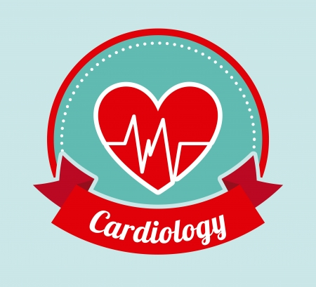 cardioid: cardiology design over blue background vector illustration