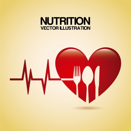 栄養クリーム色の背景ベクトル イラスト デザイン