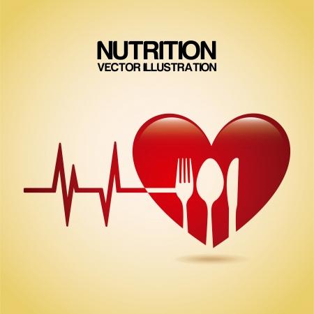 Ernährung Design über Creme Hintergrund Vektor-Illustration Standard-Bild - 22750620