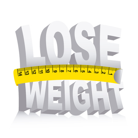 kilograms: lose weight over white background  vector illustration Illustration
