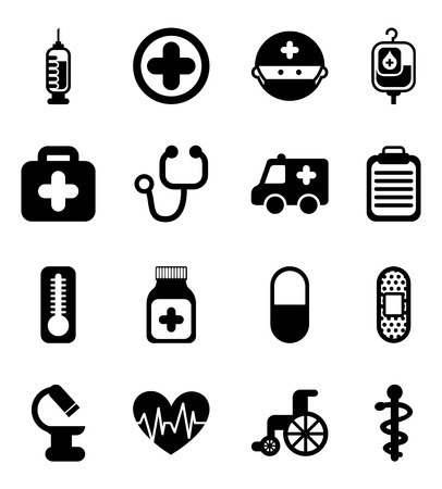 intensive care: healthy icons over white background vector illustration