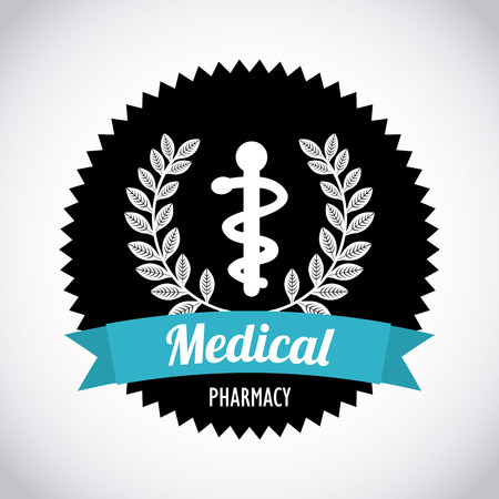 medical icon over gray background vector illustration Vector