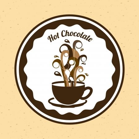 braun: chocolate  design over  pink background vector illustration