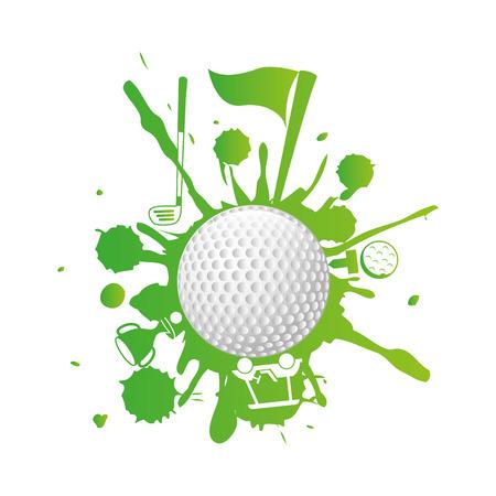 miniature: golf design over  white  background vector illustration