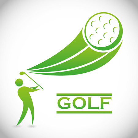 golf design over gray  background vector illustration Stock Vector - 22750697