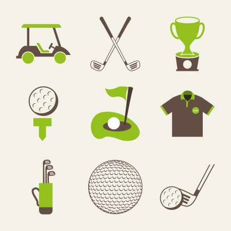 白い背景ベクトル イラストのゴルフのデザイン  イラスト・ベクター素材