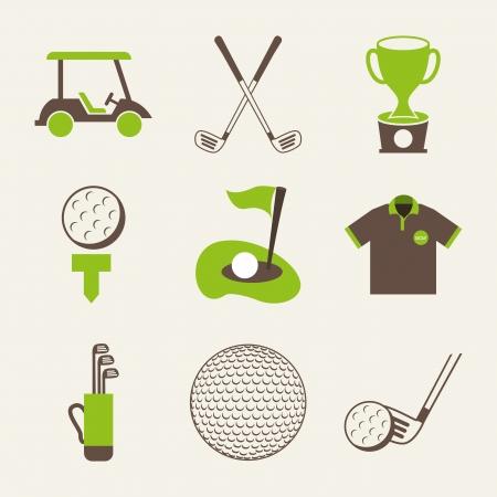 golf drapeau: conception de golf sur fond blanc illustration vectorielle Illustration