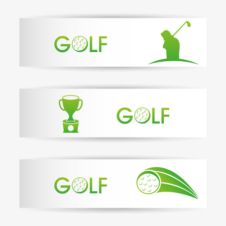 golf design over gray  background vector illustration 向量圖像