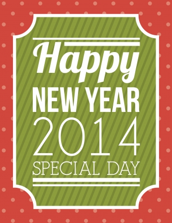 happy new year 2014 over dotted  background  vector illustration Stock Vector - 22750730