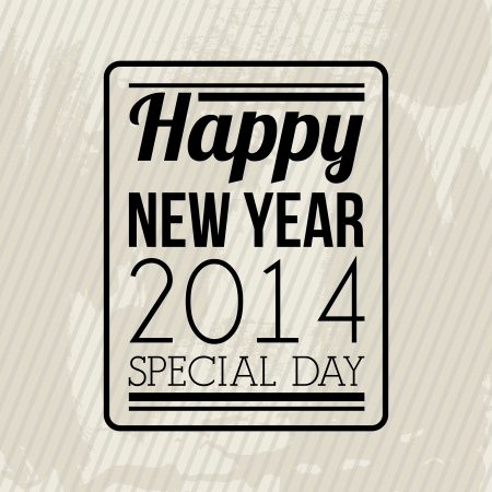 happy new year 2014 over  lineal background  vector illustration Stock Vector - 22750732