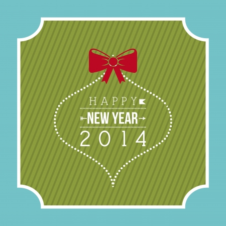 happy new year 2014 over blue  background  vector illustration  Stock Vector - 22750750