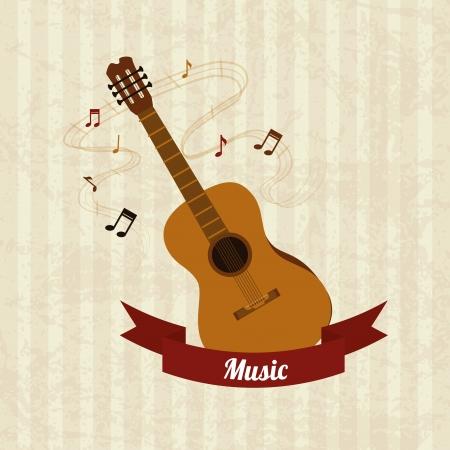 music design over lineal  background vector illustration Vector