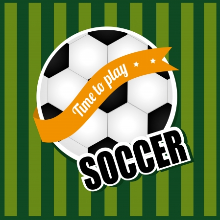 soccerball: soccer ball over lineal background  vector illustration