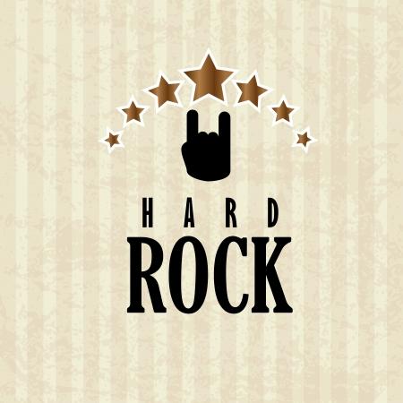 rock music: rock design over lineal background vector illustration Illustration