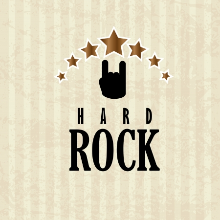rock design over lineal background vector illustration Stock Vector - 22750793