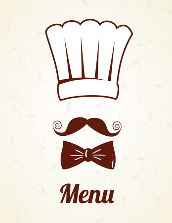 chef  design over white background vector  illustration   Vector