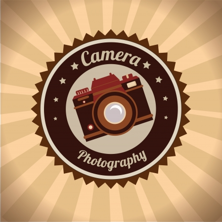 photography camera design over grunge background vector illustration   Vector