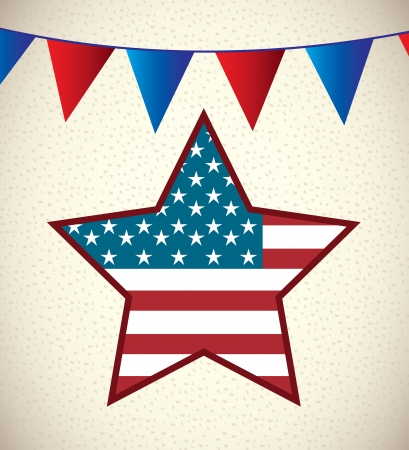 patrotismo: Background Illustration Patriot USA in pattern style vector illustration