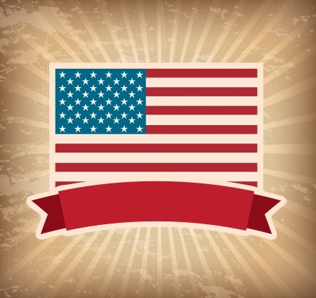 Illustration patriot united states of america usa poster vector illustration Vector