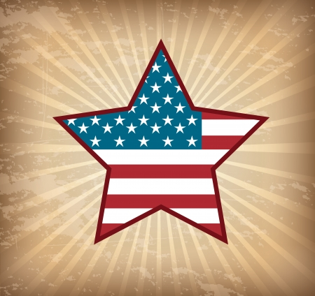 patrotismo: Background Illustration Patriot USA in grunge style, vector illustration