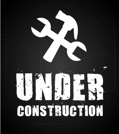 under construction over black background. vector illustration Stock Vector - 22960089
