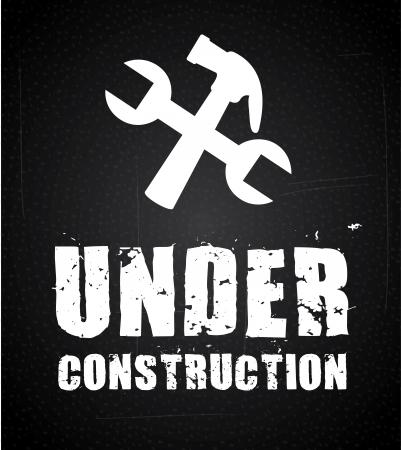 under construction over black background. vector illustration Stock Vector - 22960089