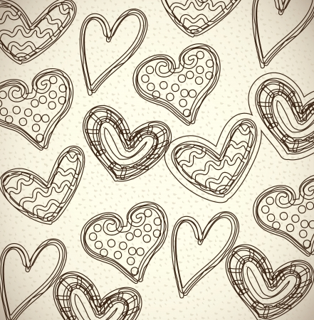 hearts skin over  beige background vector illustration  Stock Vector - 22960090