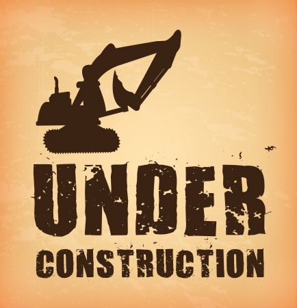under construction  over cream background  vector illustration Vector