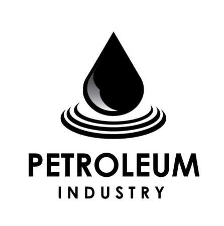 industrialization: Illustration of petroelum drop over white background  vector illustration