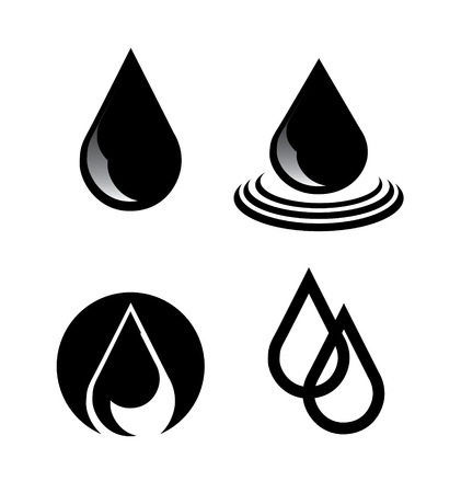 Illustration of petroelum drops over white background  vector illustration Vector