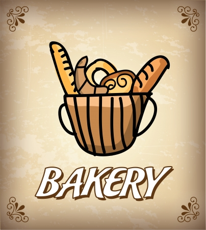 bakery design over vintage background vector illustration   Vector