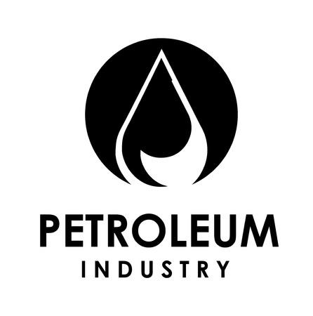 oil drops: Illustration of petroelum drop over white background  vector illustration