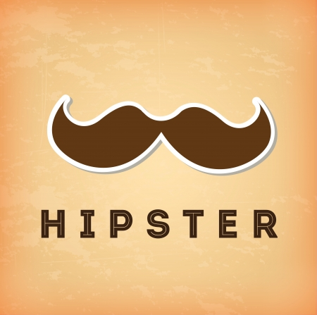 hipster design over cream background vector  illustration Stock Vector - 22959660