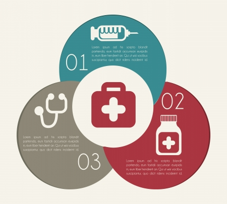 intensive care: healthy infographics over white background vector illustration