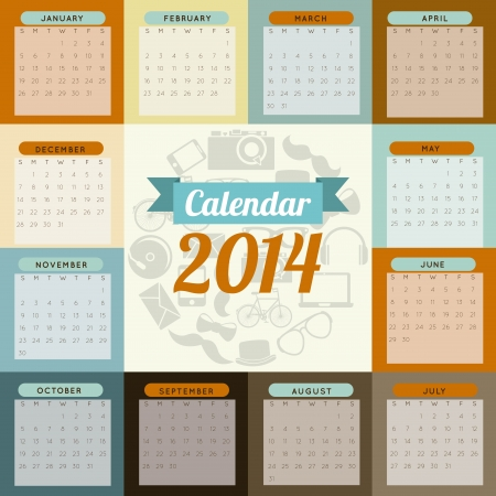 calendar design  over  colorful  background  vector illustration Stock Vector - 22959233