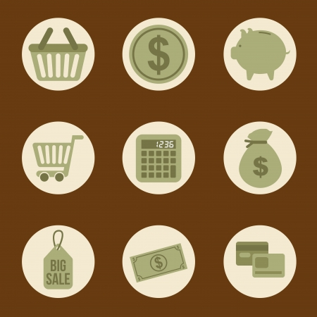 shopping icons over brown background vector illustration Stock Vector - 22959188
