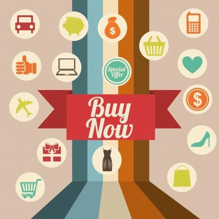 plastic: winkelen iconen over roze achtergrond vector illustratie Stock Illustratie