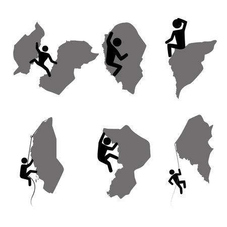 rappelling: extreme sport over background vector illustration Illustration