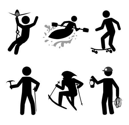 rappelling: extreme sport over white background vector illustration