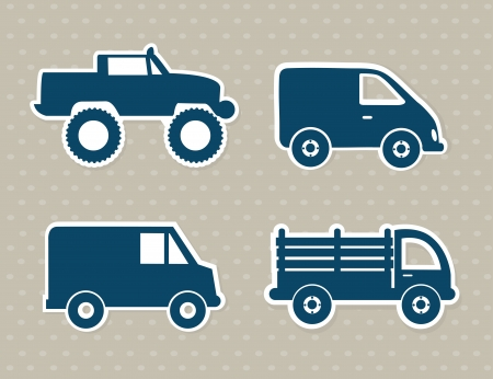 delivery van: cars design over dotted background vector illustration Illustration