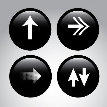 guides: arrows buttons over black background vector illustration  Illustration