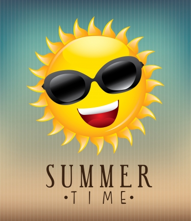 smyle: summer design over pattern background vector illustration  Illustration