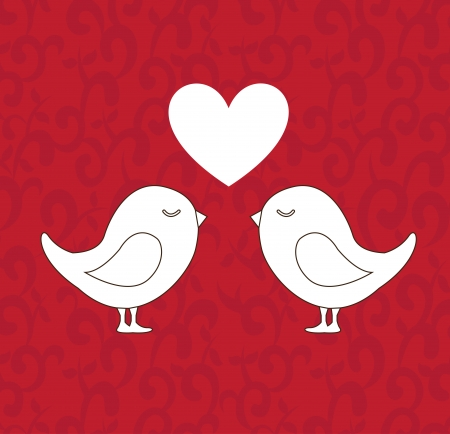 love design over red background vector illustration  Vector