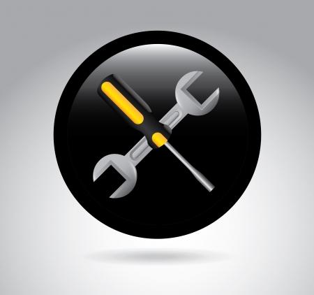 parameter: workshop sign over gray background vector illustration