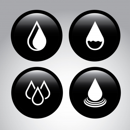 save button: natural water over gray  background vector illustration